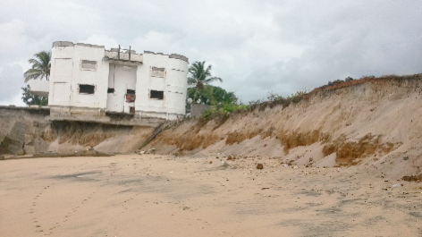 Coastal zone retreat is eating-up infrastructures in Sierra Leone